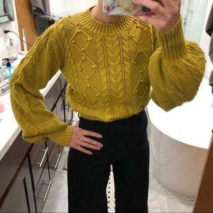 Doen Pom Pom Lulu Sweater XS Citron